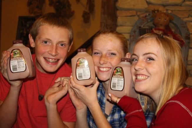 Chocolate milk, of course!