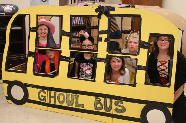 The Activity Day girls made a Ghoul Bus.